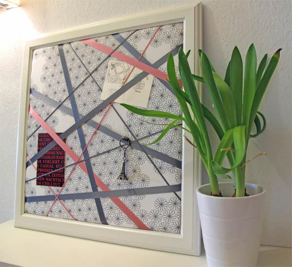Ikea hack virserum memoboard selber machen ich designer for Pinnwand gestalten