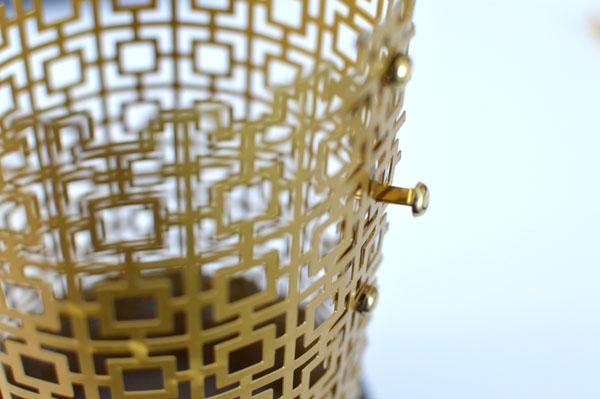 Windlicht aus Metall selber machen