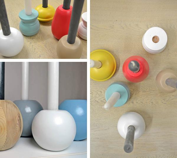 Recyclingdesign aus Möbelfüßen