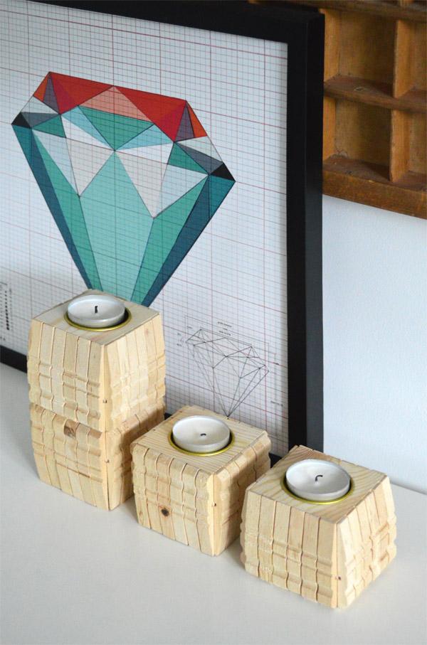 Liegestuhl Aus Holz Wäscheklammern ~ Basteln mit Wäscheklammern Kerzenständer selber DIY (1)