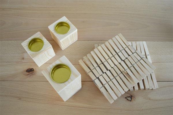 Basteln mit Wäscheklammern Kerzenständer selber DIY (4)