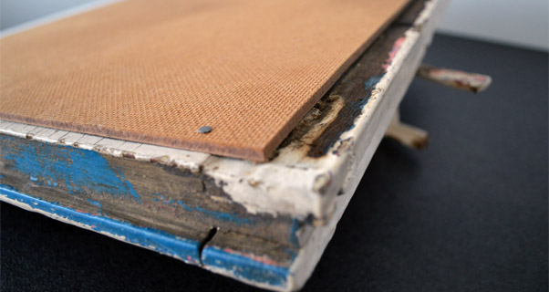 Recyclingdesign Fenster Rahmen Memoboard selber machen DIY (4)