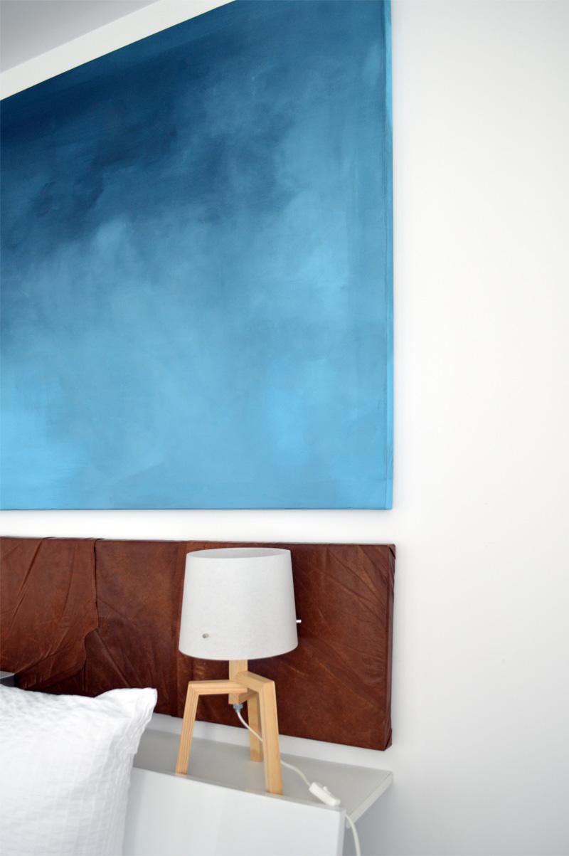 umstyling im schlafzimmer - diy wandbild und recyclingdesign - ich, Schlafzimmer